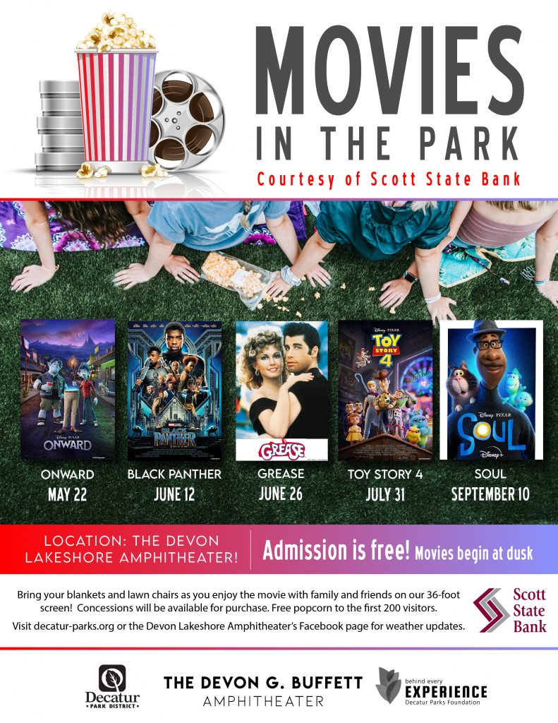 Movies in the Park Flyer 2021